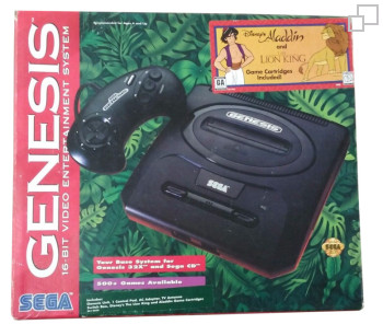 NTSC-US SEGA Genesis 2 Aladdin / Lion King Box