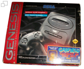 NTSC-US SEGA Genesis 2 Garfield Box