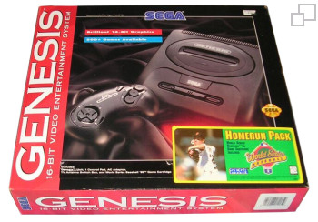NTSC-US SEGA Genesis 2 Homerun Pack Box