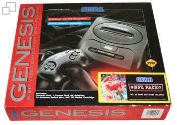 NTSC-US SEGA Genesis 2 NFL Pack Box