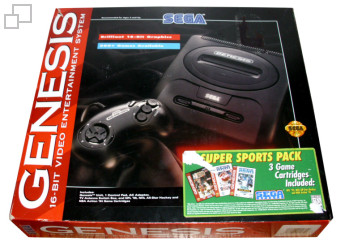 NTSC-US SEGA Genesis 2 Super Sports Pack Box