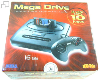 PAL-M TecToy Mega Drive III SEGA Top Ten Box