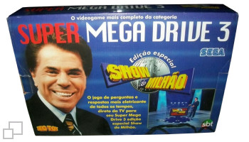 PAL-M TecToy Super Mega Drive 3 Show do Milhao Box
