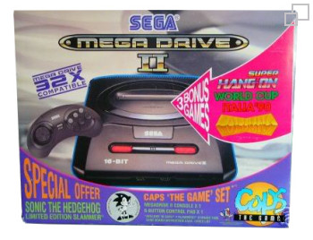 PAL/SECAM SEGA Mega Drive 2 MegaGames 1 / Caps The Game Box (Australia)