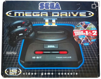 PAL/SECAM SEGA Mega Drive 2 MegaGames 1 and II Box
