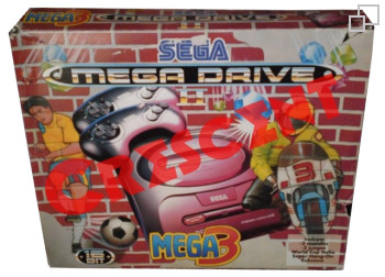 PAL/SECAM SEGA Mega Drive 2 Mega3 Box (Spain)