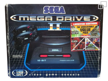 PAL/SECAM SEGA Mega Drive 2 Unbelievable Value Pack Box