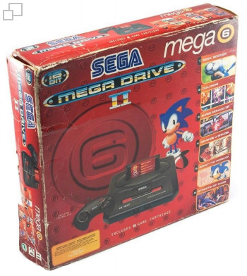 PAL/SECAM Mega Drive 2 Mega Six Box