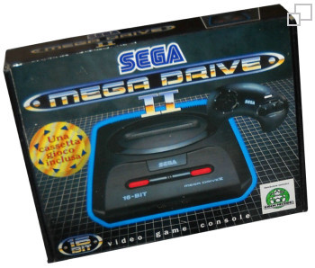 PAL/SECAM SEGA Mega Drive 2 Mixed Game Box (Italy)