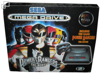 PAL/SECAM Mega Drive 2 Mighty Morphin Power Rangers: The Movie Box