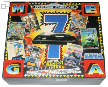 PAL/SECAM Mega Drive Mega7 Box (Spain)
