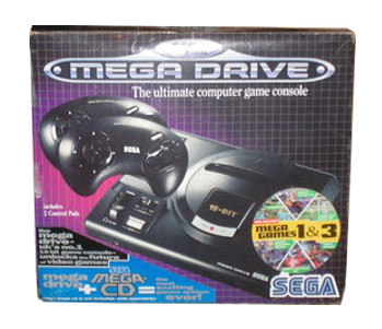 PAL/SECAM SEGA Mega Drive MegaGames 1 and III Box (UK)