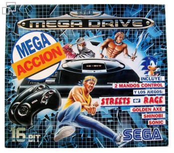 PAL/SECAM SEGA Mega Drive MegaAccion Box (Spain)
